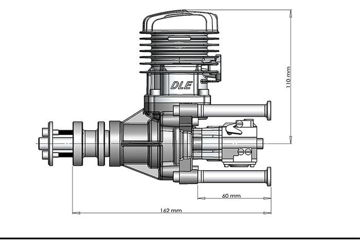 Image 5 - محرك غاز لطائرة RC حجم 35ra 35 سي سي نموذج جناح ثابت ثنائي الأشواط عادم ورياح باردة تبدأ بعد السكتة الدماغيةengine for rcgas engineengine for airplane -
