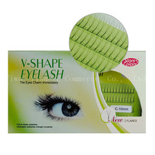 2pcs V Shape False Eyelashes 0.1mm Black 2 baht/ bunch 8mm, 10mm, 12mm Eyelashes Thick Fake Eyelashes Handmade Eye Lashes