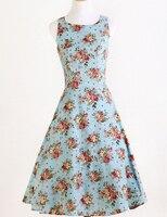 Kadın parti balo elbise özgün tasarım rock n rulo yenilik bakmak güller baskı elbise yuvarlak yaka çiçek elbiseler baskılı benzersiz