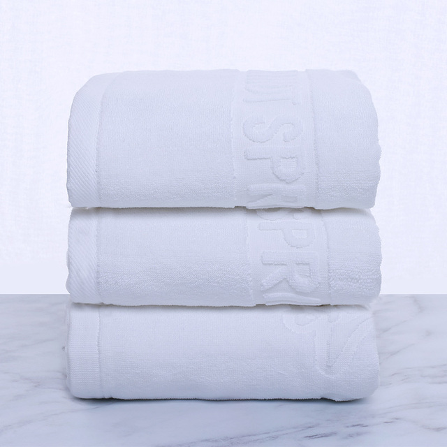 Pure Color White Bath Towel Breathable Comfortable Super Soft Good Water Absorption Silky More Durable Wash