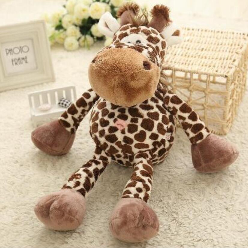 hot sale newest cute 20cm big size NICI giraffe plush doll soft stuffed animal toy for best gift стоимость