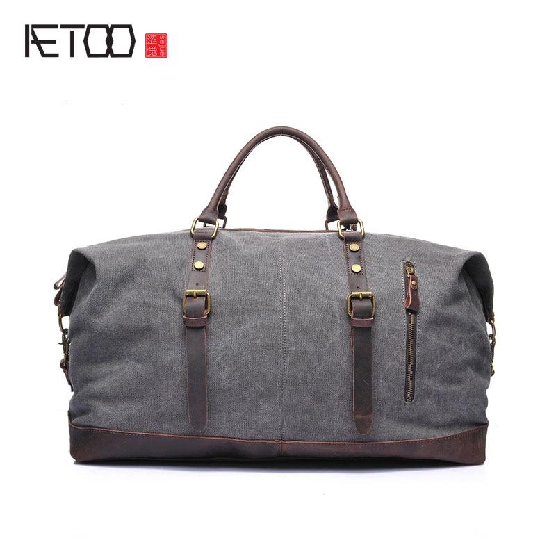 AETOO Package new large capacity portable Messenger bag male bag large travel shoulder bag travel bag тканевый пенал large capacity bag
