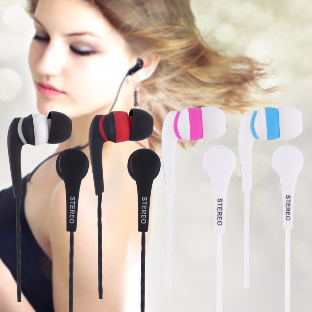 ky-30 1.2m Colorful 3.5mm In-ear Stereo Earbuds Earphone Headset Without MIC For iphone for Smart Phones MP3 MP4
