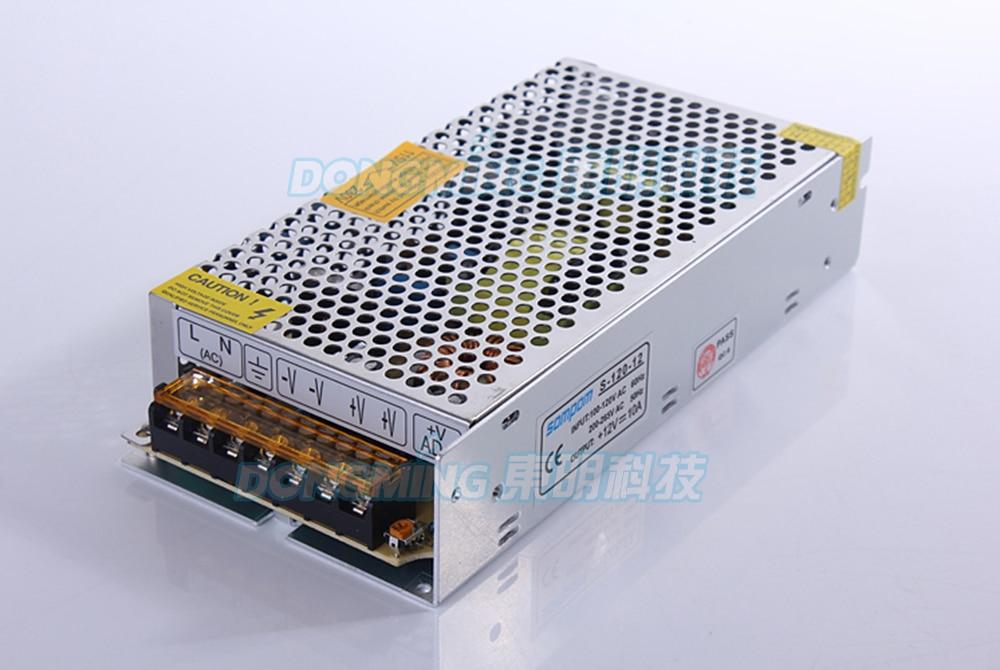 ضد آب IP22 DC 12V 10A به رهبری درایور حالت سوئیچ 120W منبع تغذیه منبع تغذیه AC100-240V آداپتور برق نوار