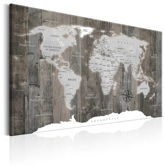 Canvas Painting Classical World Map Wooden Background Picture Modern Wall Art Print Living Room Home Decor Poster No Frame Uncategorized