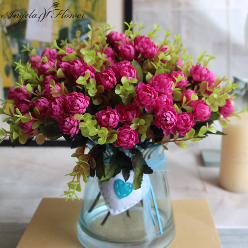 Small daisy decorative artificial set flowers fake flowers for Small flower decorations for tables