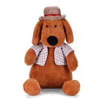 Lazada 34 سنتيمتر جرو الكلب الكلب لعبة محشوة الحيوان الدمى القطيفة الناعمة جودة عالية أفضل هدية للأطفال الأطفال (براون)
