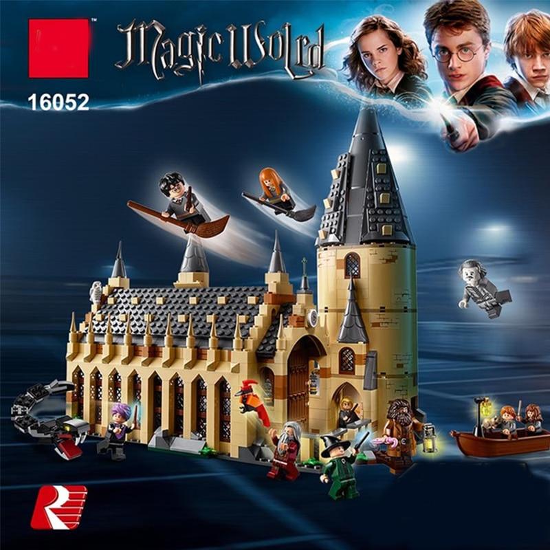 983 pcs Lepin 16052 Harri Potter Série Poudlard Grande Salle Blocs de Construction Brique Jouets Éducatifs Cadeau Compatible Legoing 75954
