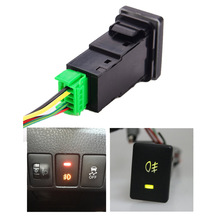 Car LED On Off Rocker Toggle Switch for Toyota Camery Yaris Highlander Prius Carora FOG LIGHT/LIGHT BAR/HEADLIGHT/ DRL Switch