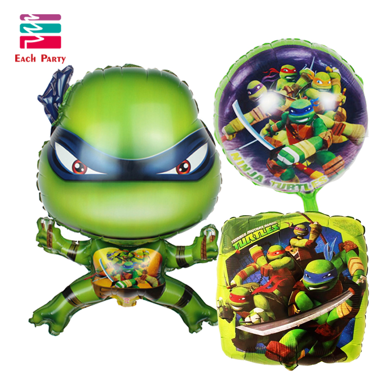 Cartoon Teenage Mutant Ninja Turtles foil balloons birthday balloons globes air