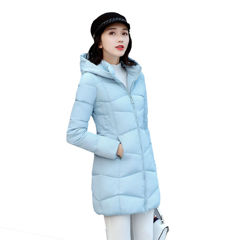 Winter Jacket Women 2017 New Fashion Women Down Jacket  Cotton-padded Down Parkas Coat Hooded Parkas Warm Cotton Outwear tfmln 2017 new warm women parkas down cotton jacket hooded coat woman outwear clothes winter high quality jacket with pockets