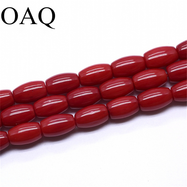 5x8mm coral Barrel beads Cross drop  Abacus Natural Stone Loose Beads for jewelry making Girl DIY Bracelets & Bangles
