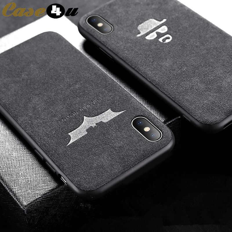 0f288ebc0c Marvel Batman Turn Fur Soft Silicone Phone Cases for iPhone 6 6s 7 8 Plus  XS Max XR X 10 AMG GTR BMW Motorsport Car Logo Cover