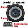 Hot sale 1 pair 4 inch 2 way 2x60W waterproof car stereo speakers audio speaker coaxial car speaker