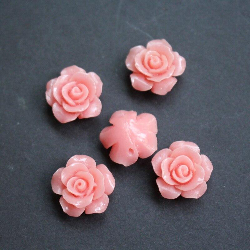 10 шт. мм 15 мм Camelia коралловые бусины коралловые Цветочные бусины кабошон розовый цвет для изготовления ювелирных изделий