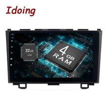 Idoing 1Din 9 «Android8.0/7.1для Honda CRV 2006-2011 4G + 32 г 8 ядерный Автомобильный gps мультимедийный плеер рулевое колесо навигация быстрая загрузка