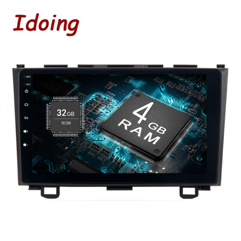 Idoing 1Din 9 Android8.0/7.1For Honda CRV 2006-2011 4g + 32g 8 Core Voiture GPS Multimédia Lecteur Volant Navigation Rapide Boot