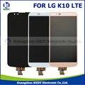 1 pcs original para lg k10 lte k420n k430 display lcd + touch screen digitador assembléia completa reparação exibição