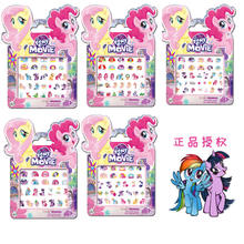 5 pcs/lot My Little Pony Children's Nails Stickers toys Children's Baby Cartoon Kids Waterproof Nail Stickers(China)