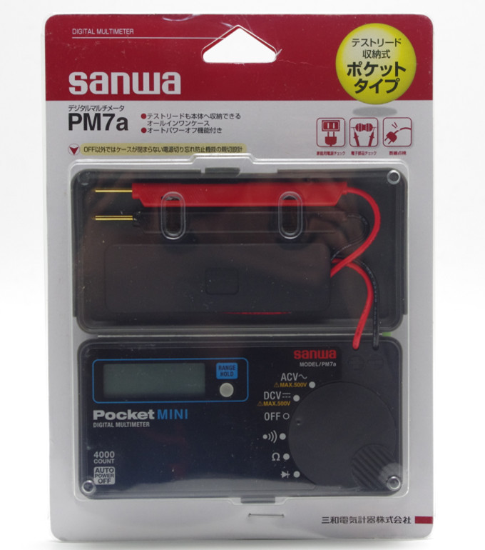 Pocket mini size portable Multimeter DMM 4000 count DC AC NEW Free shipping Sanwa PM7A