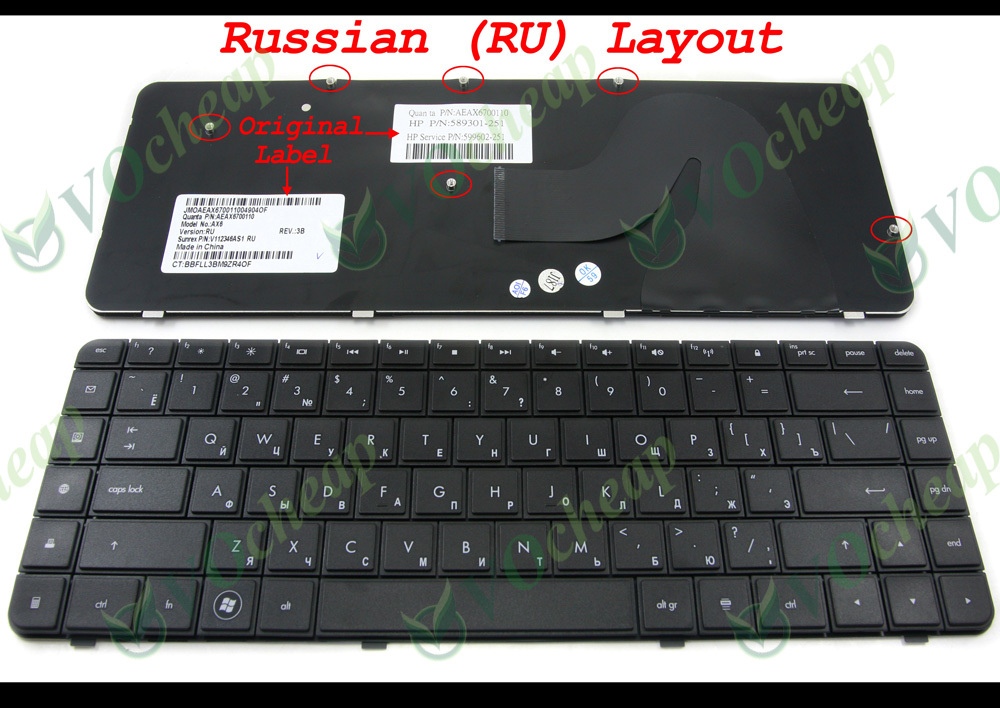 NEW OEM for HP Compaq Presario G56 CQ56 CQ56-100 Keyboard Black