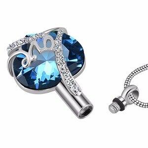 Медальон с винтом «всегда в сердце», памятный кулон для праха, урна, ожерелье, подвеска-сувенир