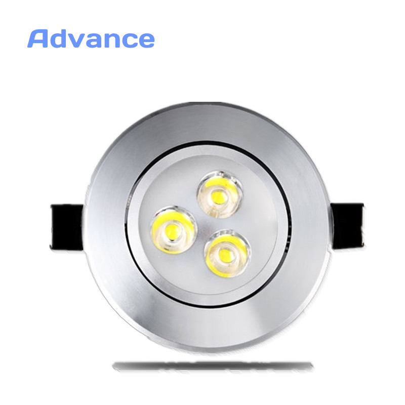 Silver Ultra Gorgeous LED Downlight Recessed Cabinet Wall AC220V 220V 3W Recessed LED Spot Light Decoration Ceiling Lamp Home