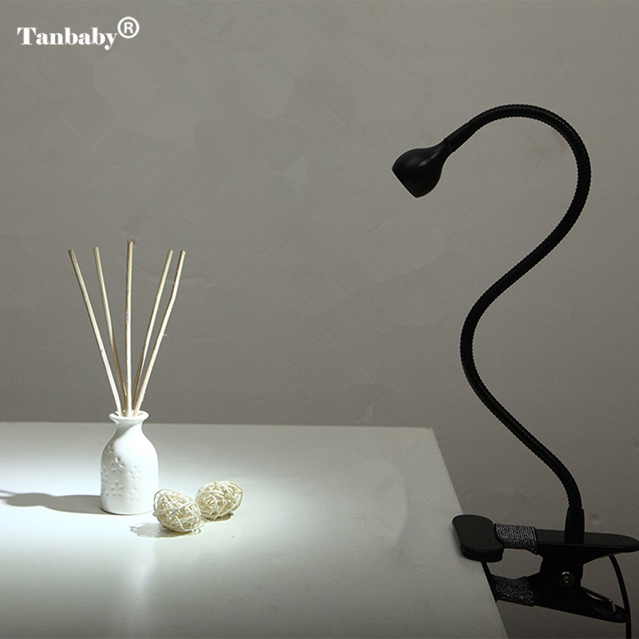 все цены на Tanbaby Adjustable USB LED Flexible Goose Neck Headboard Reading Book Desk Lamp with Clip on Light and On/off Control Switch онлайн