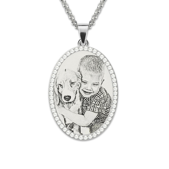 Wholesale photo engraved necklace sterling silver pendant necklace wholesale photo engraved necklace sterling silver pendant necklace birthstone custom photo necklace memorial gift aloadofball Image collections