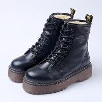Женские ботинки martin, Черные ботильоны, женские ботинки на плоской подошве со шнуровкой