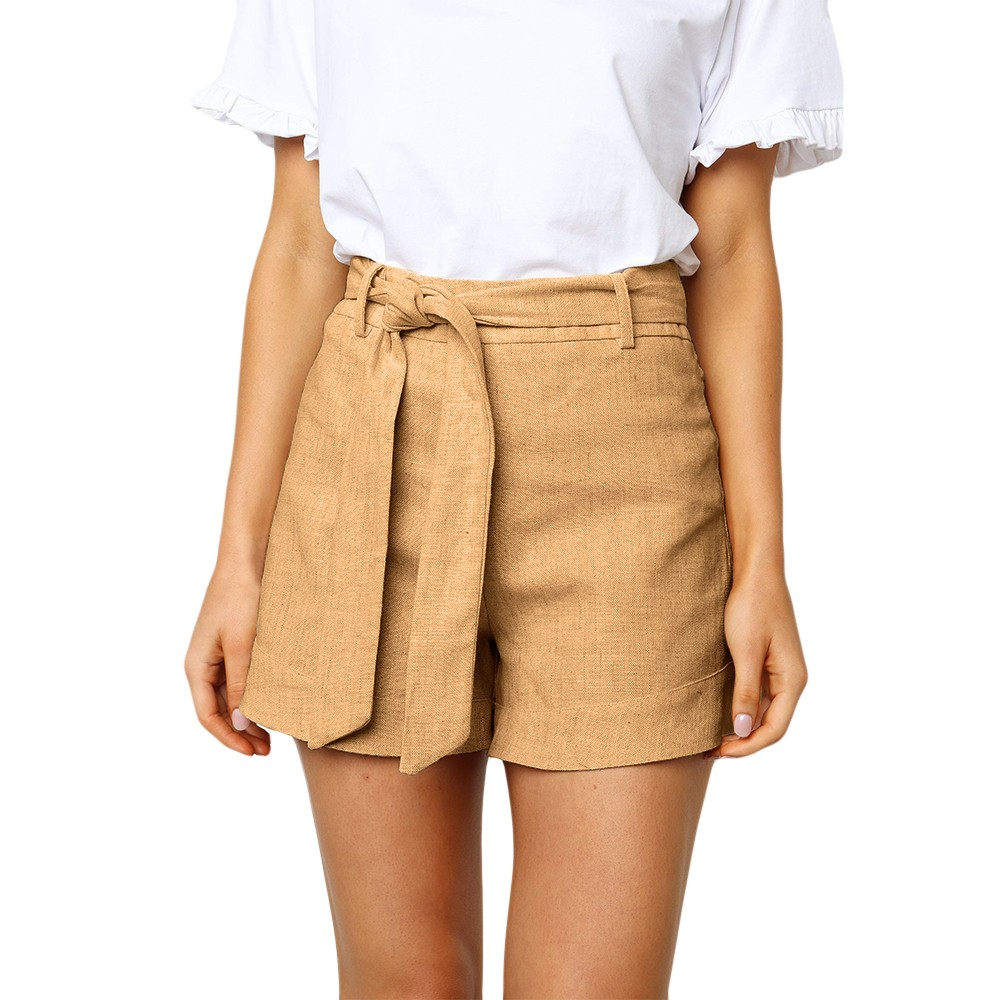 2019 New Fashion Women Sexy Strap Casual Solid Color Wash Cotton   Shorts   Femme   Shorts   Free Shipping #25