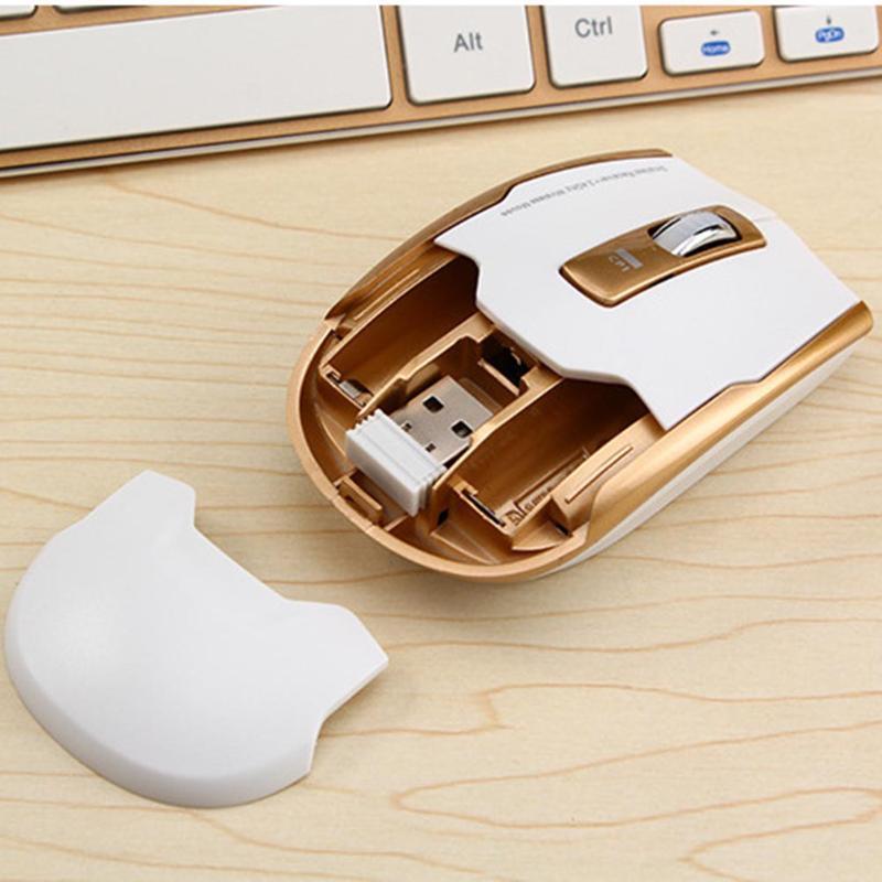 Ergonomic Metal Ultra-Slim 2.4G Wireless Keyboard and Optical Adjustable DPI Mouse Combo Set for PC Computer Laptop Desktop