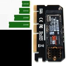 Tarjeta de expansión Led con carcasa de aleación de aluminio, interfaz de adaptador de ordenador M.2 NVMe SSD a 3,0 PCIE X16