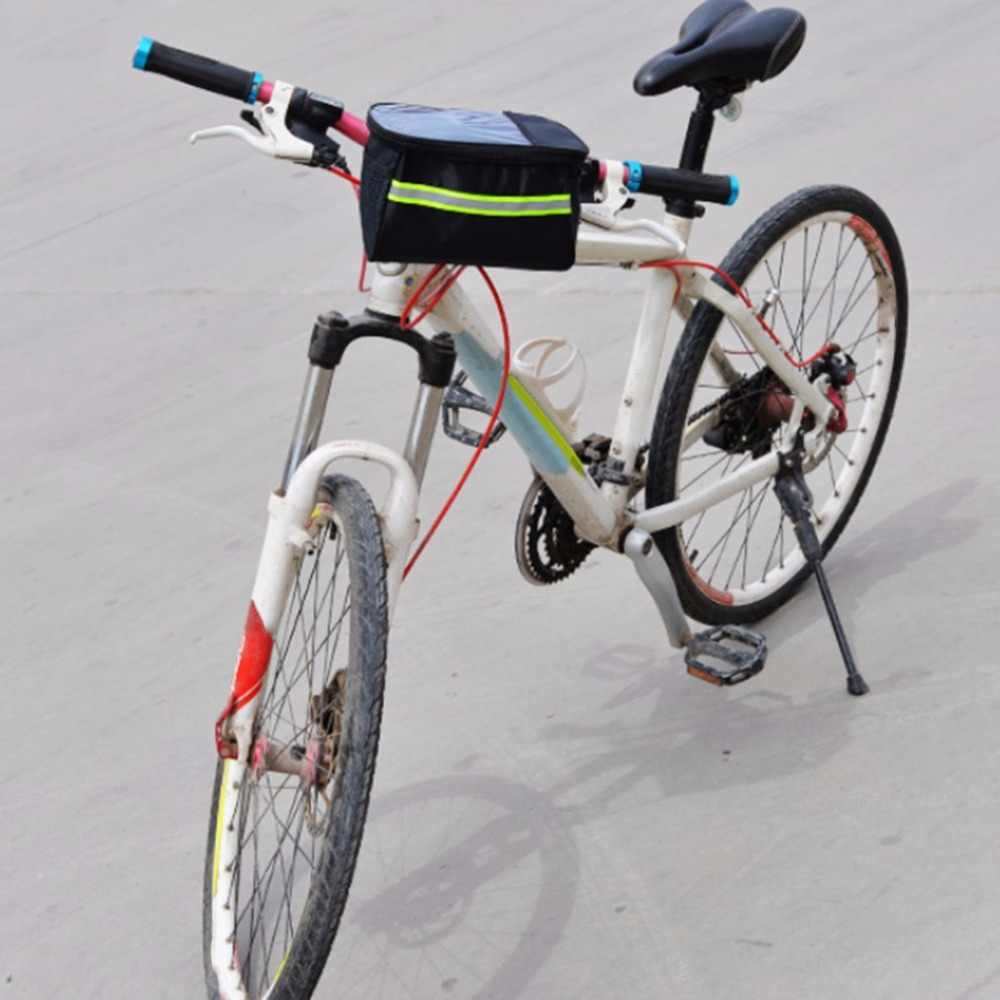 20 Inch Large Polyester Bike Bicycle Front Basket Durable Waterproof Tube Handlebar Bag Outdoor Sport Accessories 2018 Hot