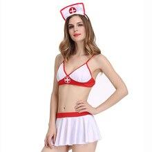 Hot Fantasy Porn Sexy Costumes Temptation Nuisette Women Sexy Lingerie Nurse Erotic Lingerie Costume