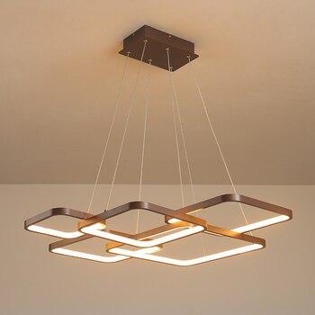 현대 노르딕 hanglamp led 펜 던 트 조명 거실 침실 호텔 원격 제어 매달려 홈 docer 브라운 펜 던 트 램프