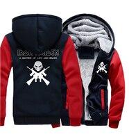 A MATTER OF LIFE AND DEATH Hip Hop Sweatshirts Men 2018 Winter Fleece Brand Hoodies Punk