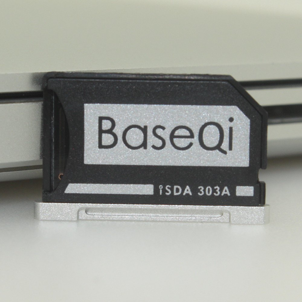 BASEQI Aluminum MiniDrive Micro SD Card Adapter Memory Card Reader For Macbook Pro Retina 13 Model 303A