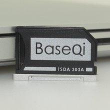 """BASEQI Aluminio MiniDrive Micro SD Adaptador de Tarjeta de Memoria Lector de Tarjetas Para El Macbook Pro Retina 13 """"Modelo 303A"""