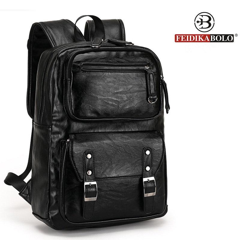 European and American style Solid high quality Genuine leather men backpack shoulder bag Schoolbag computer Travel bag 6002-F