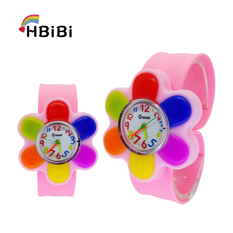 2019 New Listing Children's Watch Fashion Unique Big Flower Style Watch Children Silicone Kids Watches Girls Baby Clock Hot Sale