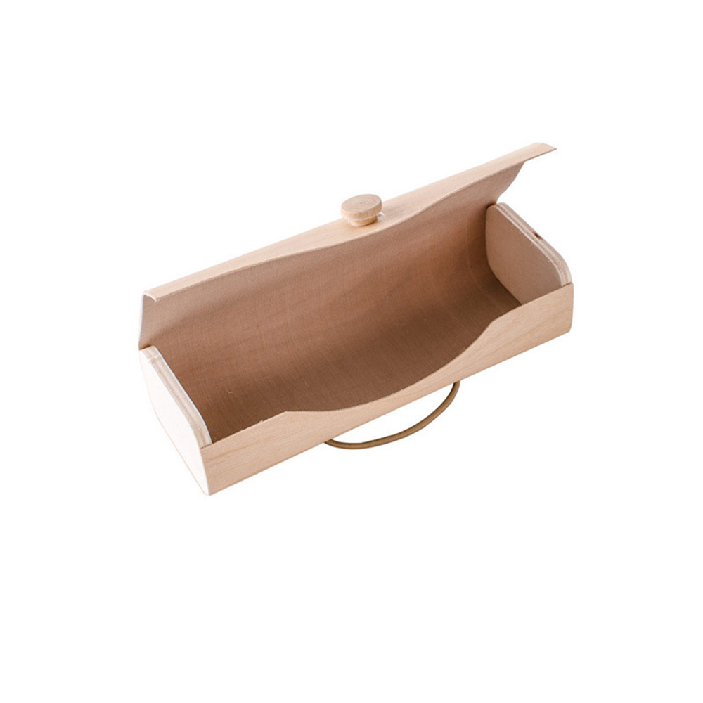 Portable Wooden Sunglasses Box Case Eye Glasses Clam Shell Protector Tool
