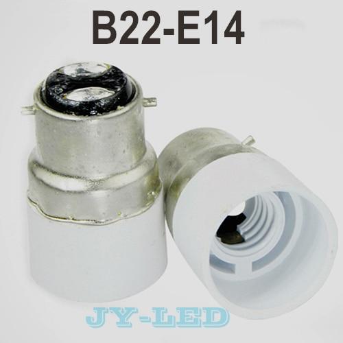 10pcs/lot B22-E14 Lamp Holder Converter Socket, Lamp Holder Adapter Light Bulb Plug Extender free shipping