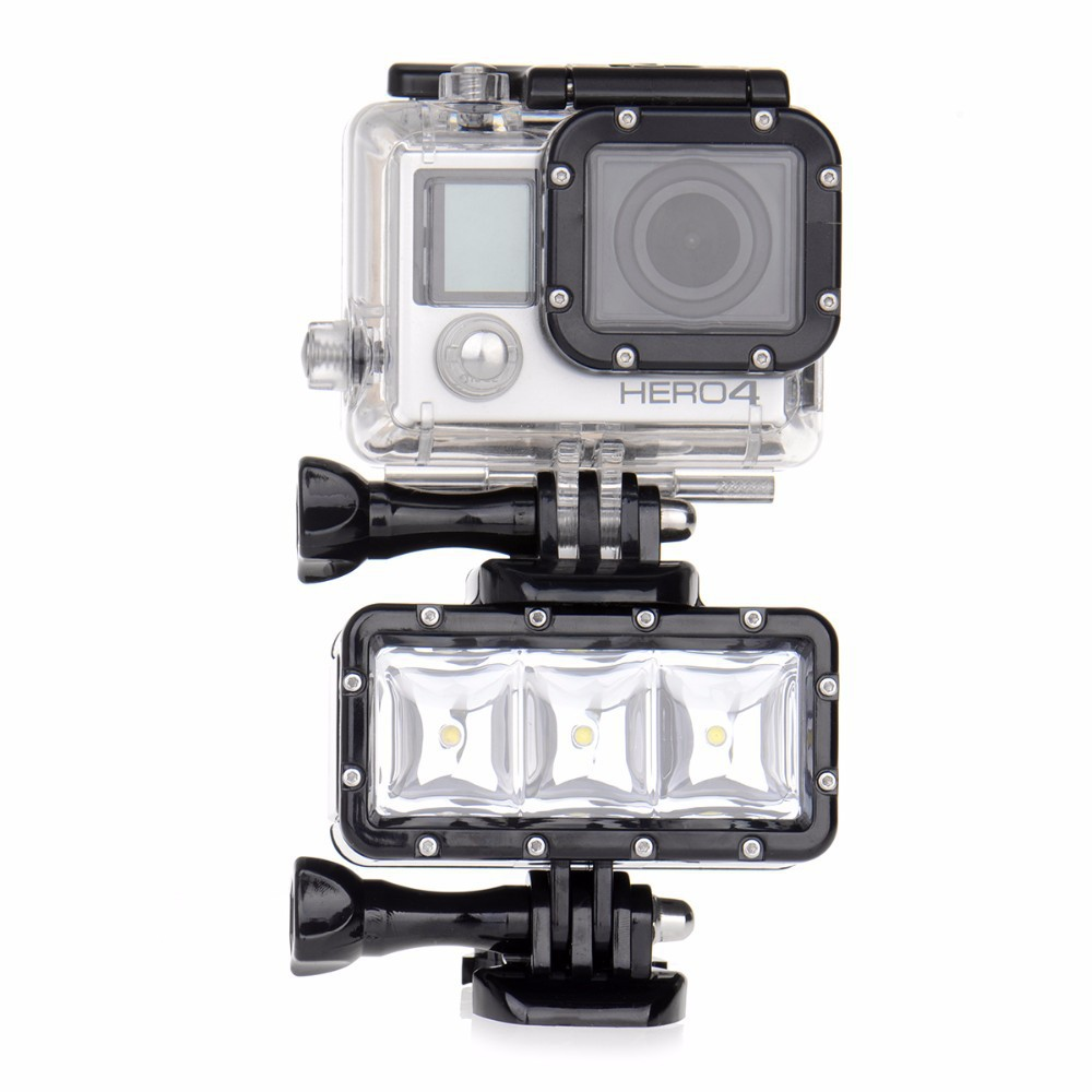 Go Pro Underwater Light Diving Waterproof LED Video Battery For GoPro Hero 5 4 Session Hero4 3 Xiaomi Yi 2 SJ4000 SJCAM In Flashes From Consumer