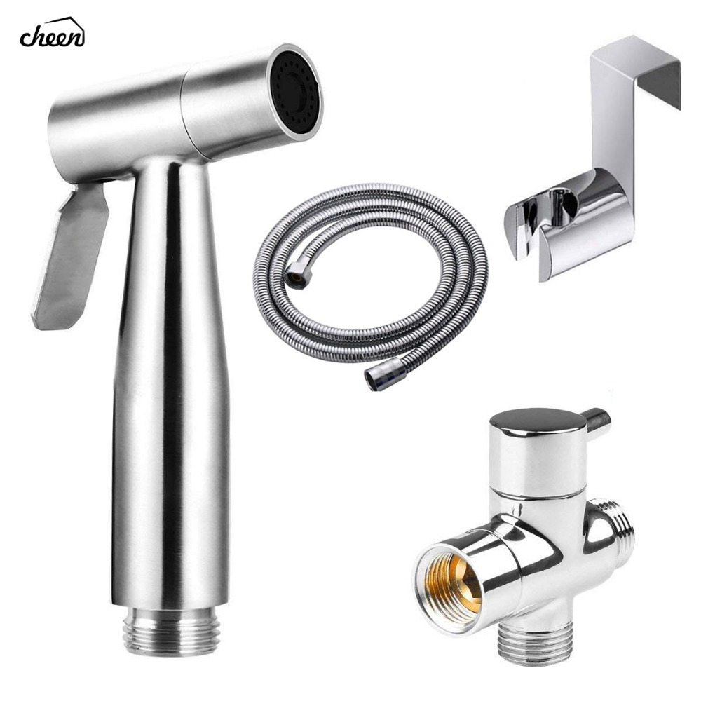Toilet Handheld Shattaf Bidet Sprayer Stainless Steel Shower Heads Set Shower Faucet Accessories Muslim Shower Ducha Higienica 3d stereoscopic swan background wall decor painting pvc vinyl wallpaper for living room bedroom door sticker mural wall paper 3d