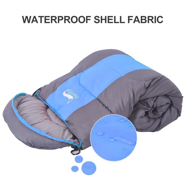 Desert&Fox Camping Sleeping Bag, Lightweight 4 Season Warm & Cold Envelope Backpacking Sleeping Bag for Outdoor Traveling Hiking 5