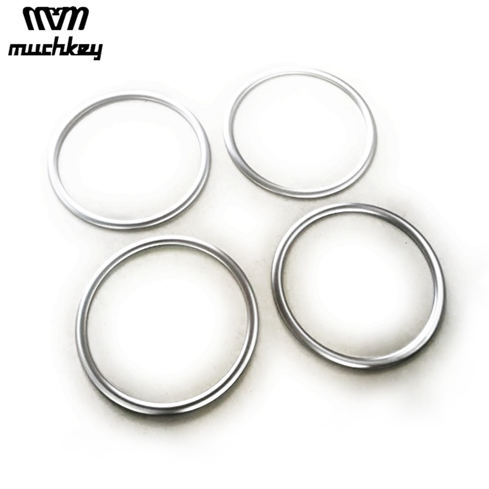 Car Decorative Accessories For Nissan Note Car Speaker Ring Cover Trim Matte Style Or Mirror Style Abs Chrome 4Pcs Auto Part xyivyg chrome abs mirror cover for nissan pathfinder 05 06 07 08 09 10 11 12 for xterra 05 15 for frontier 05 16