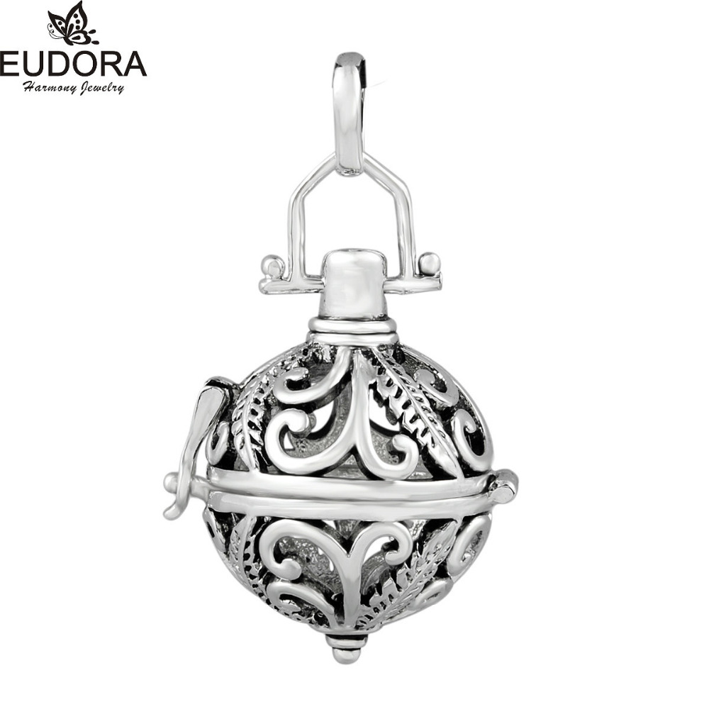5PCS Vintage Copper Metal Cage Locket Slide Pendant fit 16mm/18mm/20mm Mexican Bola Chime Ball Maternity Jewelry Wholesale