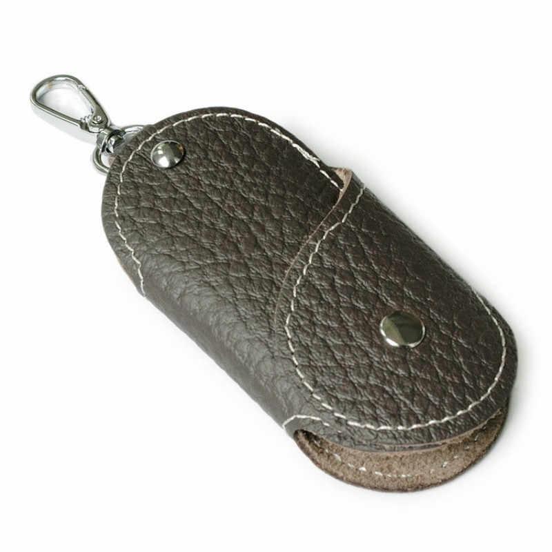 Hakiki Inek Deri Anahtar Cüzdan kart tutucu İş Organizatör Kahya Anahtarlık Çantalar Erkekler Kadınlar Cep Araba Paketleri Tuşları Çanta