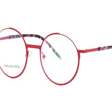 MONGOTEN ретро унисекс Мода полный обод из нержавеющей стали асферическая линза оптические очки против усталости очки для чтения